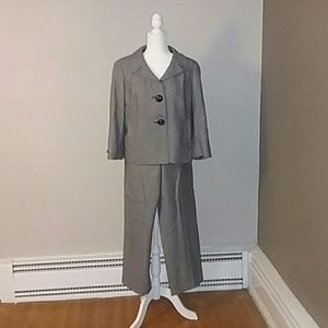 Talbots Wool Houndstooth Pant Suit